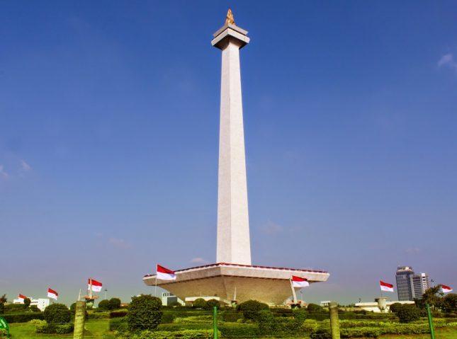 Tugu bersejarah Monumen Nasional Jakarta