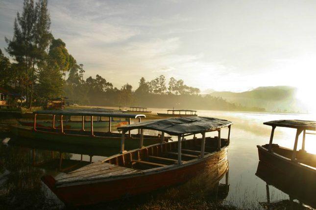 Wisata alam Situ Cileunca Bandung