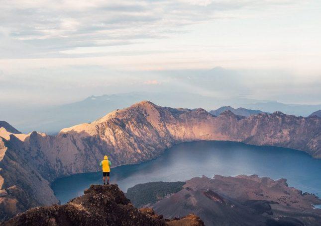 Kaldera gunung Rinjani