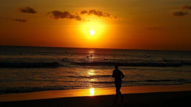 Sunset di pantai Kuta Lombok