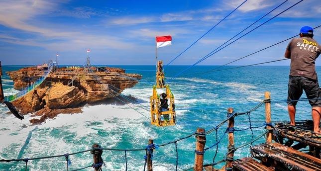 Wisata pantai Timang Jogja