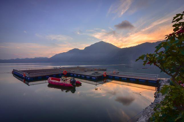 Panorama danau Batur Bali