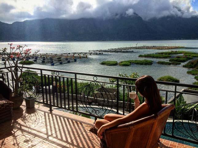 Merasakan keindahan di danau Batur Bali