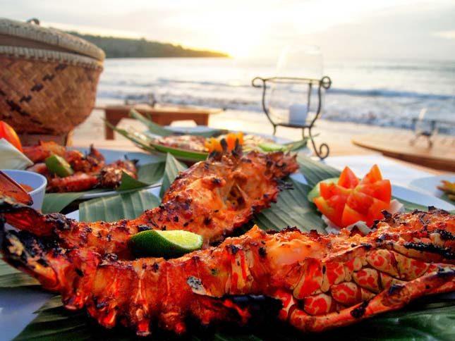Menu seafood pantai Jimbaran Bali