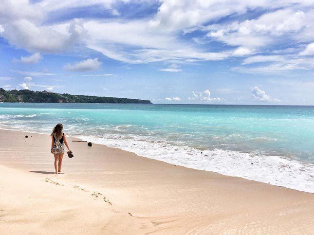 Lokasi fotografi di pantai Dreamland Bali