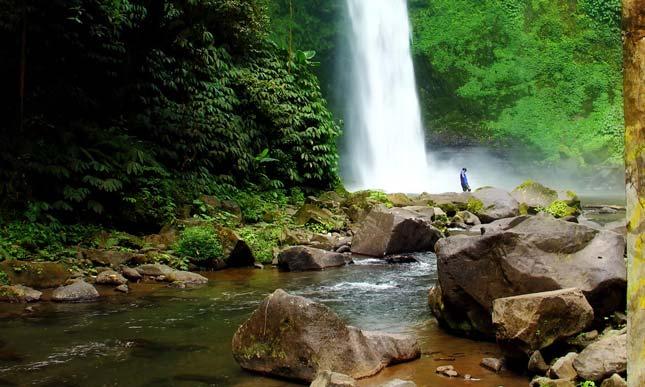 Lokasi wisata air terjun Nungnung Bali