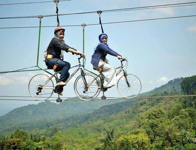 Wahana bermain sepeda gantung